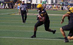 Redshirt junior running back Darrynton Evans rushes for a touchdown versus Costal Carolina.
