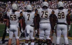 Captains Josh Thomas, Jordan Fehr and Victor Johnson lead App State Football