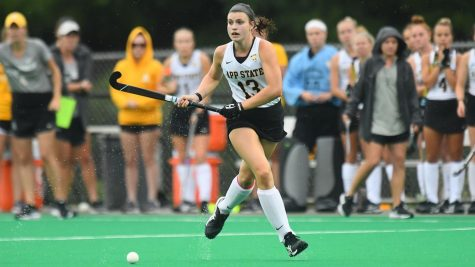 Junior midfielder/defender Meghan Smart has scored three goals in the first two game of the Mountaineers