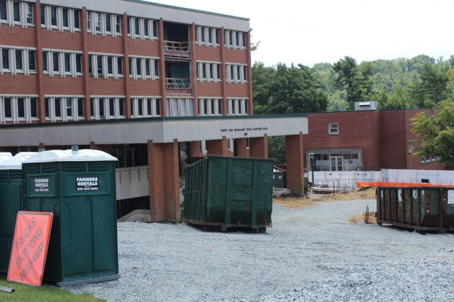 Sanford Hall construction brings new homes to two academic departments