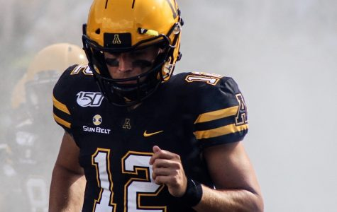Heading into his 2020 senior season, App State QB Zac Thomas holds a 23-3 career record since being named QB1 before the Penn State season opener in 2018. Thomas takes the field before App State's game vs. Coastal Carolina on Sept. 28 last season.