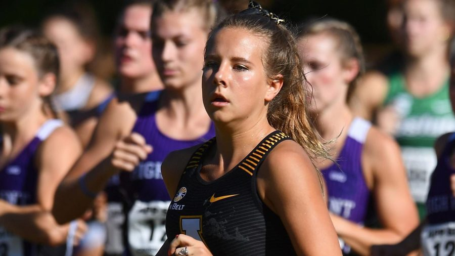 Izzy+Evely+was+named+the+Sun+Belt+Women%27s+Runner+of+the+Week+earlier+this+month.+The+cross+country+team+has+their+next+race+Friday%2C+Aug.+20+at+the+Don+Kennedy+Trails+at+State+Farm.+