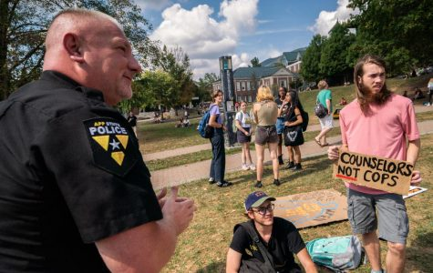 Students protest Appalachian Police Officer Development Program