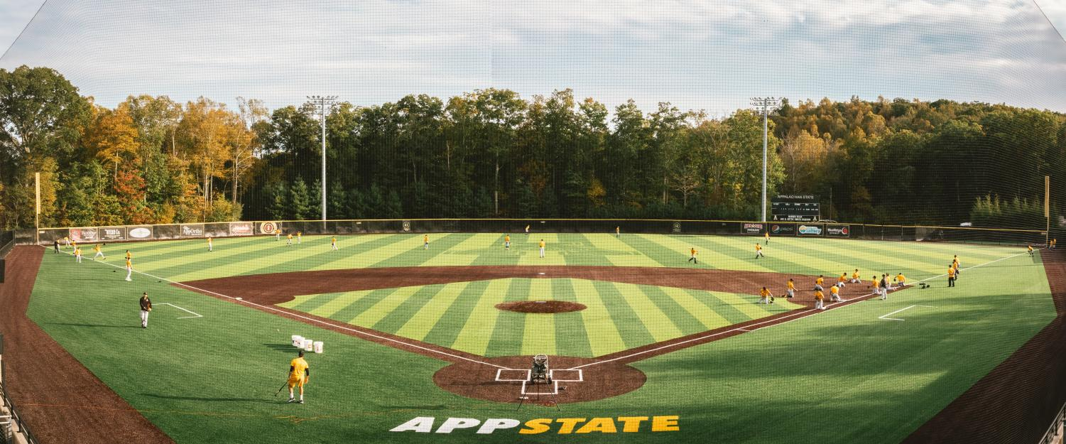 "App State's new baseball turf system replaced the original system that had been in use at Jim and Bettie Smith Stadium since it opened in 2007. ""It's a great product,"" head coach Kermit Smith said."