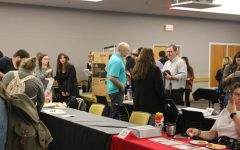 Students gather around many different tables and stations at the Study Abroad Fair to learn about international education opportunities at App State.
