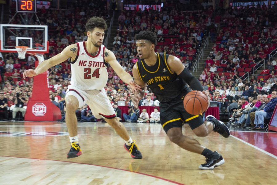 Junior guard Justin Forrest finished with a game-high 25 points in App State's 72-60 loss at NC State on Dec. 29.