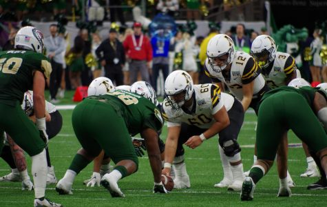 Four out of five starters on App State's offensive line were named to 2020 preseason all-Sun Belt teams. The line is anchored in the middle by four-year starting center Noah Hannon.