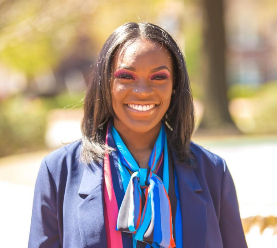 Imani+Dillon%2C+first-year+graduate+student%2C+takes+over+the+graduate+assistant+position+at+the+Multicultural+Center+for+the+Spring+2020+semester.+Located+in+the+Plemmons+Student+Union%2C+the+center+is+a+place+that+encourages+diversity+and+inclusion.