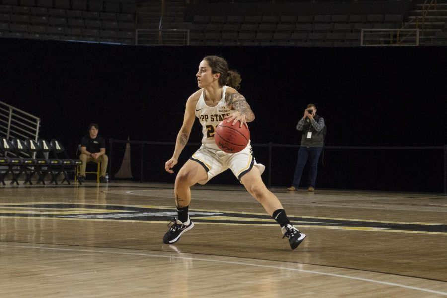 Senior+guard+Ashley+Polacek+led+the+Mountaineers+with+13+points+in+the+80-53+loss+to+Coastal+Carolina+on+Jan.+18.