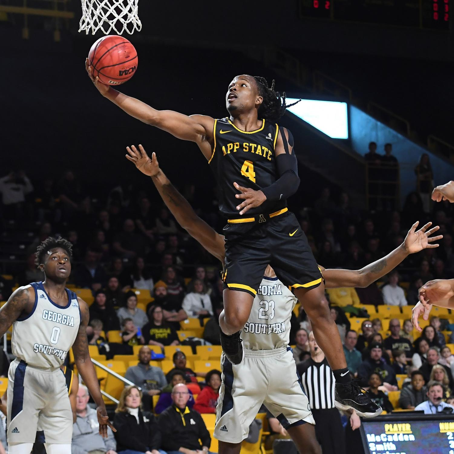 Senior guard O'Showen Williams recorded the first double-double of his career in App State's 83-80 overtime win over Arkansas State on Jan. 16.
