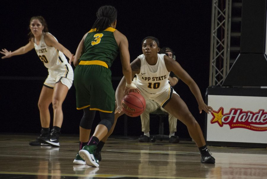 Junior guard Michaela Porter scored a career-high 14 points in App State's 57-51 loss to Louisiana on Thursday night.