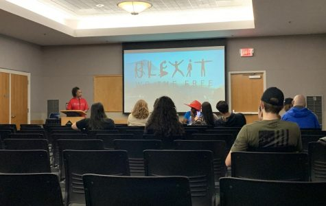 App State's chapter of Turning Point USA, a conservative nonprofit, hosted BLEXIT NC, a nonprofit aimed at advancing minority communities in the United States Tuesday