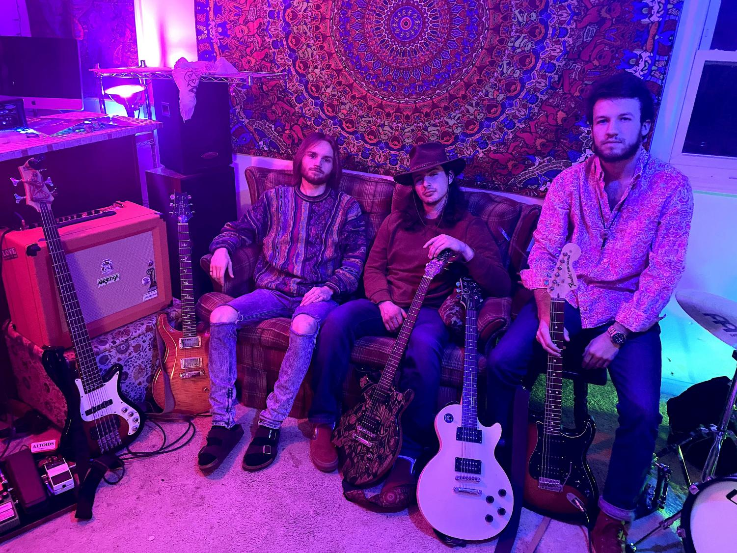 Dan Chelcun, JD Nickel, and Justin Rosario are Loosey, a student band who performed this past weekend at the Greenhouse in Boone. The venue doubles as the band's house, and is an upcoming home venue in the area.