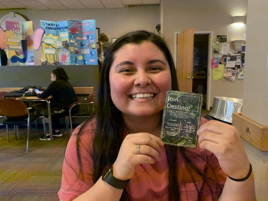 Carol Ascencio, a recent App State graduate, started Destino in 2018 to address the need for a Hispanic-based ministry community on campus. They meet every Wednesday at 7:30 p.m. in Room 155 of the Plemmons Student Union.
