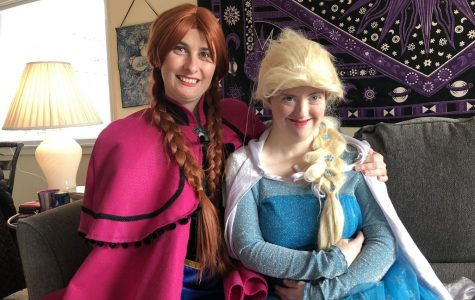 Emily Rayner, 25 (left) and Moriah McKinney, 28 (right) are best friends and roommates who love to visit community events such as Boone BOO! and the Blowing Rock WinterFest dressed up as their favorite Disney characters, Elsa and Anna from the movie