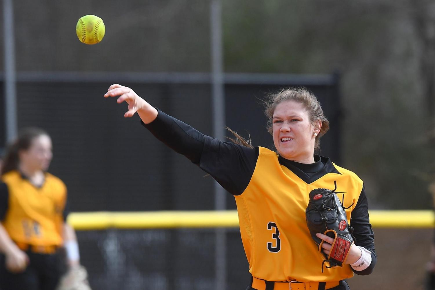 Senior third baseman Keri White makes a play during a game last season. White led the Mountaineers in seven statistical categories and was named to the all-Sun Belt second team a season ago.