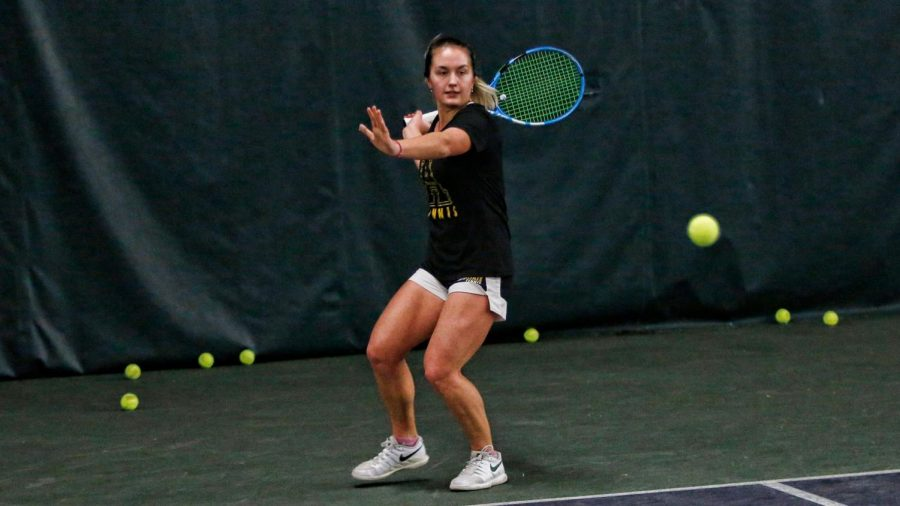 Junior Sasha Pisareva is the No. 1 seed for the women's tennis team this season. Pisareva has picked up wins over NC State and Virginia Tech this season.