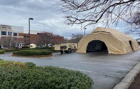 ARHS: Tent at Watauga Medical Center a precaution
