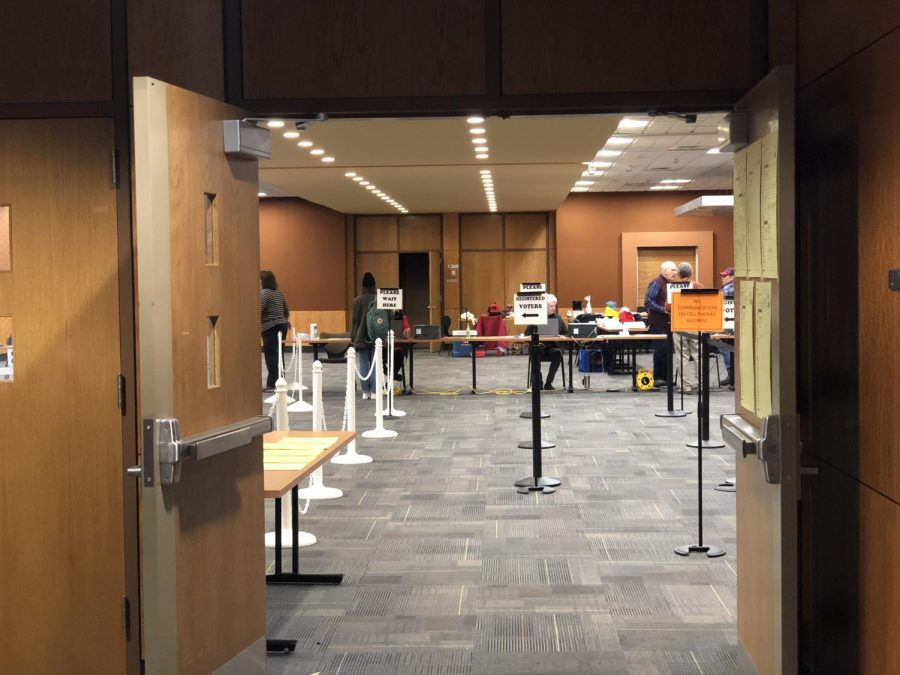 Polls opened at 6:30 a.m. Tuesday morning for the start of Super Tuesday. One person was ready to vote right when the polls opened in the Plemmons Student Union voting site.