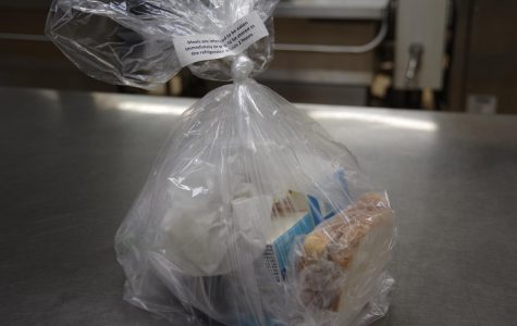 The bagged dinner and breakfast Hardin Park Elementary School is offering to students and their parents as schools remain closed.