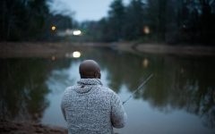 "James Murdock of Granite Falls fishes as the sun sets in Caldwell County. ""I'm not gonna let anything stop me from fishing. I love to fish,"" he said."