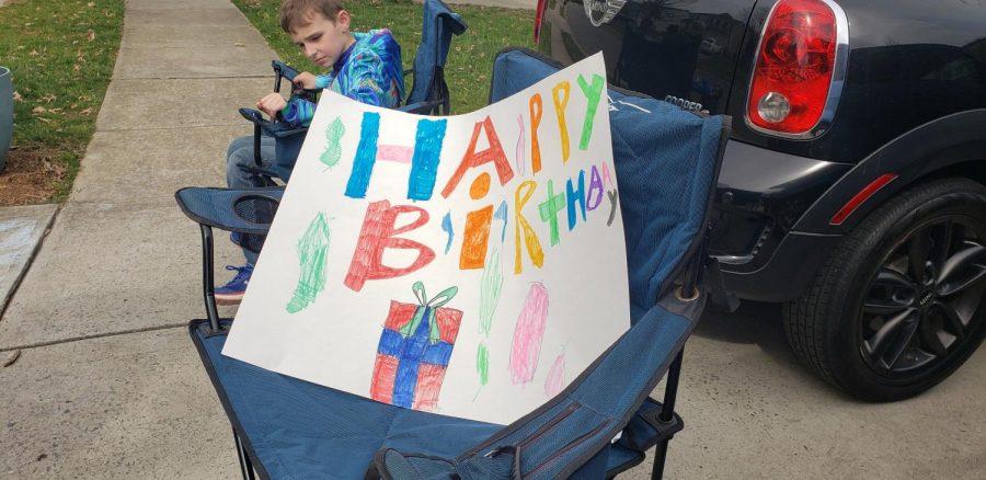 Birthday celebrations from six feet apart