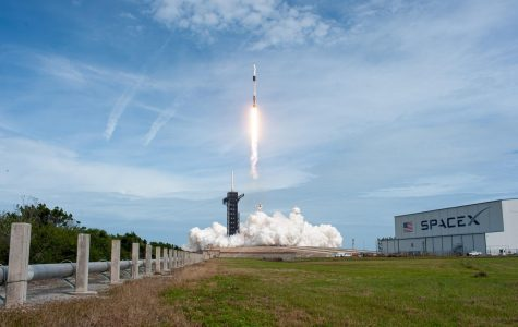 A SpaceX Falcon 9 rocket lifts off from Launch Complex 39A at NASA's Kennedy Space Center in Florida at 10:30 a.m. EST on Jan. 19, 2020, carrying the Crew Dragon spacecraft on the company's uncrewed In-Flight Abort Test