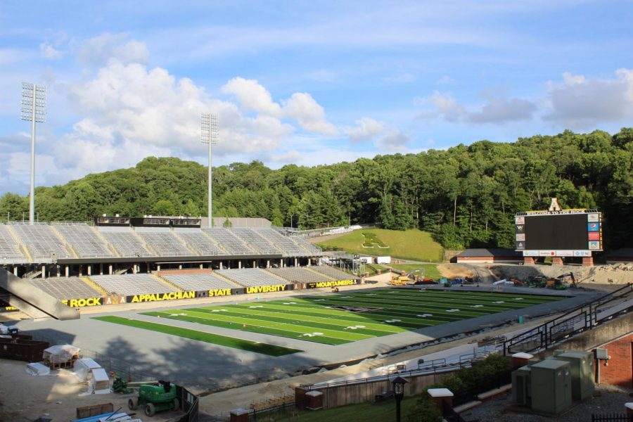 App State football returns to practice in pods