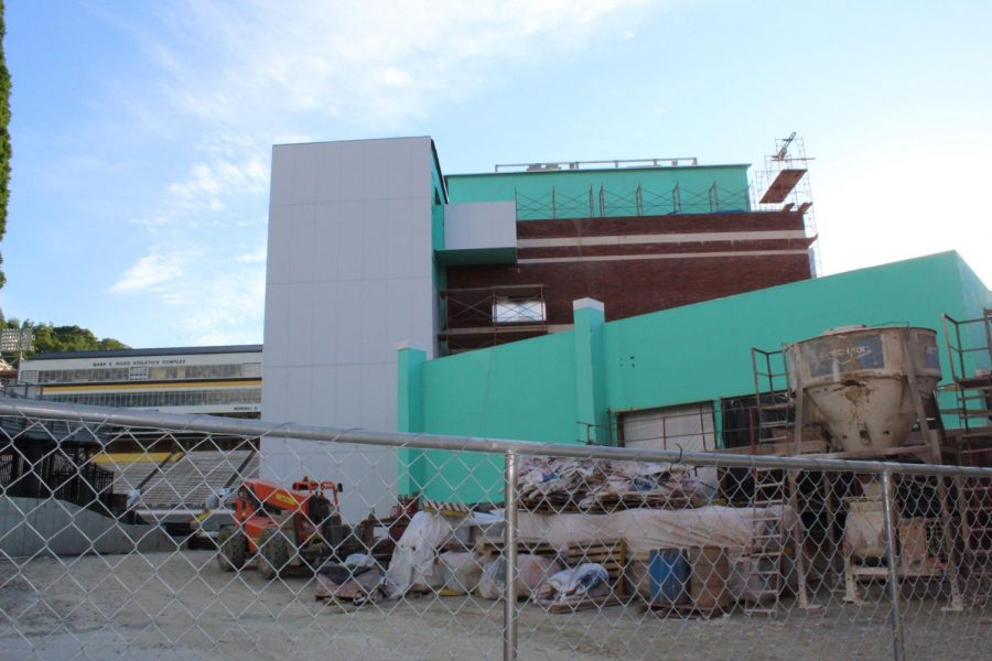 Side view of the north end zone project.