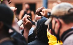 On Friday, App State football led a protest on racial injustice through the streets of Boone and the campus.