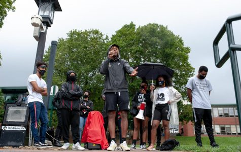Black students were encouraged to speak during the Wake the Chancellor event on Sanford Mall Aug. 31. Cam Peoples speaks about his experience with racial injustice on campus, his life growing up in Alabama, and called to those who have power to use it to speak up against racial injustices.