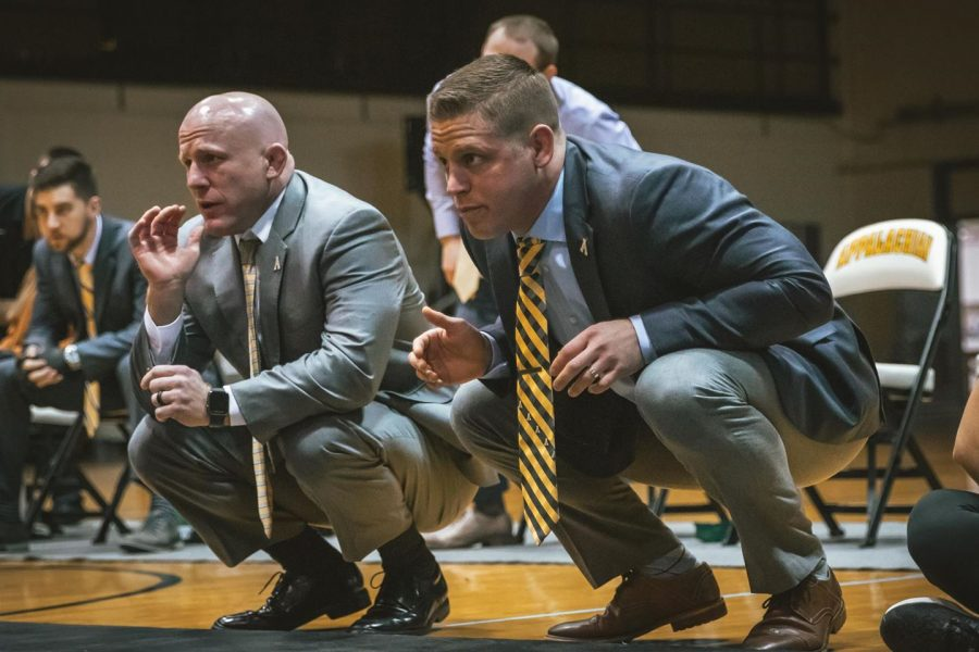 Former+App+State+wrestling+co-head+assistant+coach+Ryan+LeBlanc+%28right%29+has+been+named+the+head+coach+at+The+Citadel.+