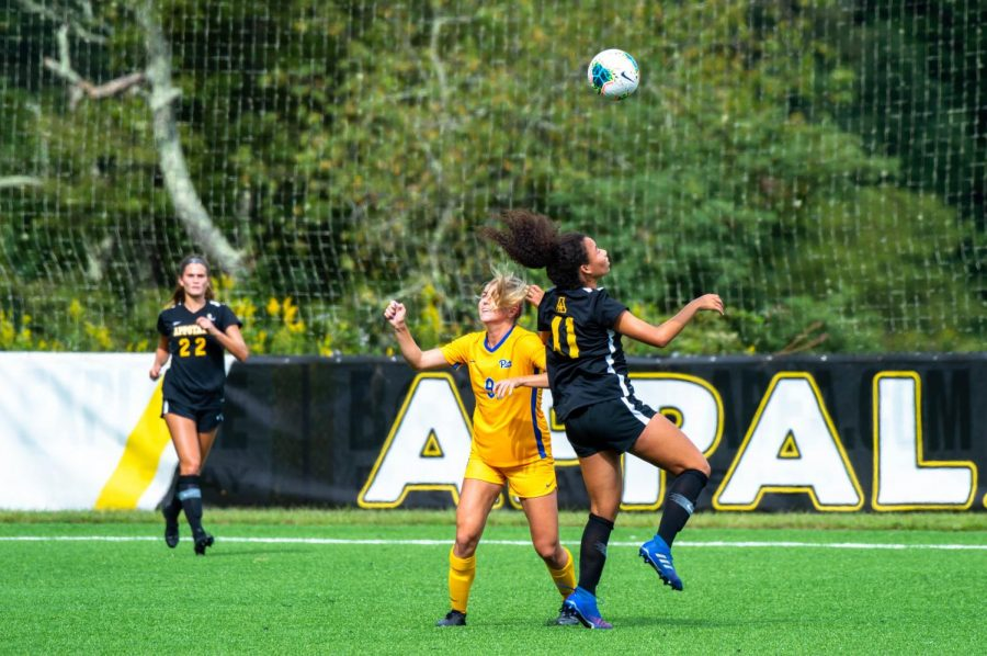 Grigsby, #41, tried her best to push Pitt back during a 0-4 loss on Thursday, September 10.