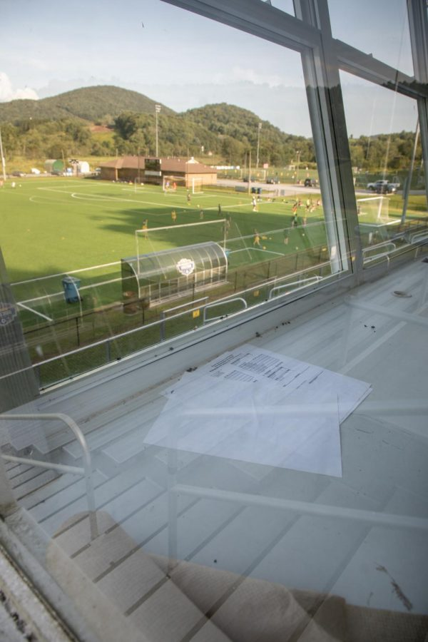 The press box at Ted Mackorell Soccer Complex was empty and lifeless as local soccer teams take over the feild.