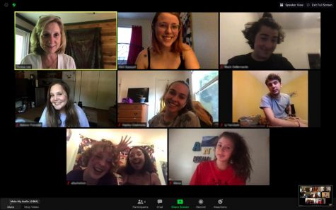 """Production members of """"The COVID Chronicles"""" pose on Zoom. The production will feature four acts of original monologues written and performed over Zoom by App State students."""