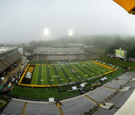 App State defeated Charlotte 35-20 in the opening game of the season at an empty Kidd Brewer Stadium Sept. 12. The Mountaineer offense rushed for over 300 yards and four touchdowns.