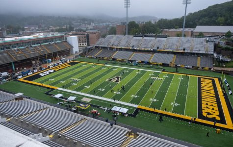 App State picked up a 35-20 week 1 win over Charlotte at an empty Kidd Brewer Stadium Sept. 12. Gov. Roy Cooper announced Tuesday that, starting in October, outdoor stadiums that can seat over 10,000 can open at 7% capacity. Around 2,100 fans could be in attendance at The Rock for App State's Sun Belt opener against Louisiana Oct. 7.