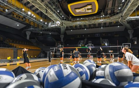 App State volleyball was set to open its season with a three-game home series against Georgia Southern Sept. 25-26. One athlete tested positive for COVID-19 and others had to quarantine due to contact tracing, leaving the Mountaineers with not enough players to play Georgia Southern.