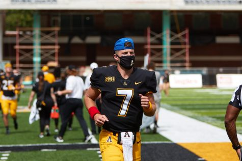 Though some players in App State senior backup quarterback Jacob Huesman