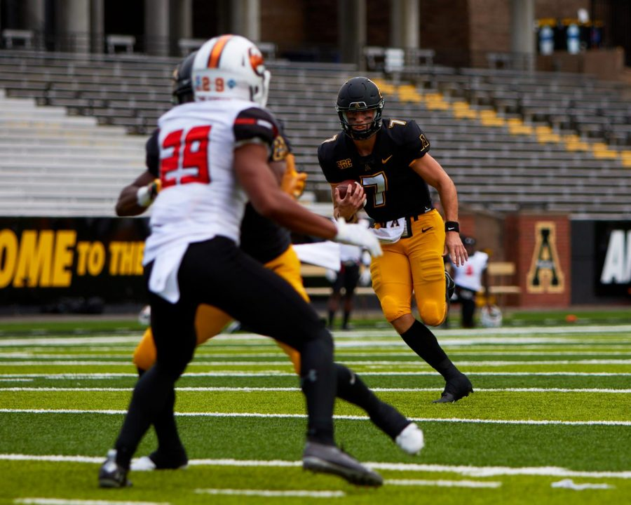 Huesman got some playing time in App State's 52-21 win over Campbell Sept. 26. He rushed once for an eight yard touchdown in the fourth quarter.