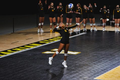 "App State volleyball has dealt with a lot so far in 2020, and the team is grateful for what they do have. ""I just want to remember this season and be thankful for the opportunities I have,"" senior Grace Morrison (above) said."