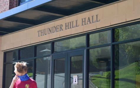 Students in Thunder Hill residence hall were relocated after encountering a leak in two suites Oct. 2.