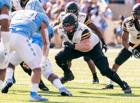 App State senior offensive lineman Cole Garrison is a 2020 semifinalist for the William V. Campbell Trophy, given annually to the nation