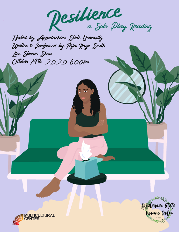Mia Raye Smith performed her solo play on Oct. 14 in partnership with the App State Women's Center and Multicultural Center. Smith seeks to create a conversation around mental health and race with her play.