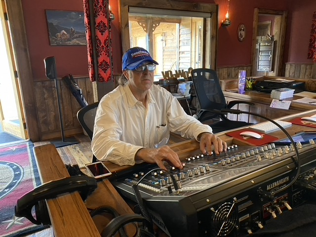 John Littlewood in the recording studio of Saloon Studios in West Jefferson. Owner Mike Jones and his staff invested in a recording studio to make the Western-themed concert venue more appealing to artists.