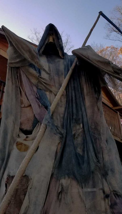 The largest Rim Reaper in North Carolina, located at the haunted attraction, Terror by the River. Manager Kristina Ward said there was an increase in visitors this year despite the pandemic.