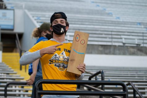 A limited capacity of fans were allowed at Kidd Brewer Stadium on Oct. 22 for the first time in 2020. The Mountaineers picked up a 45-17 homecoming victory against Arkansas State.