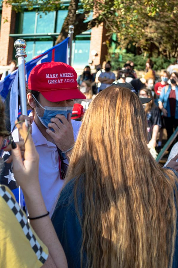 After heated debates between pro-Trump students and Black in Boone organizers, students continued with civil discourse with the
