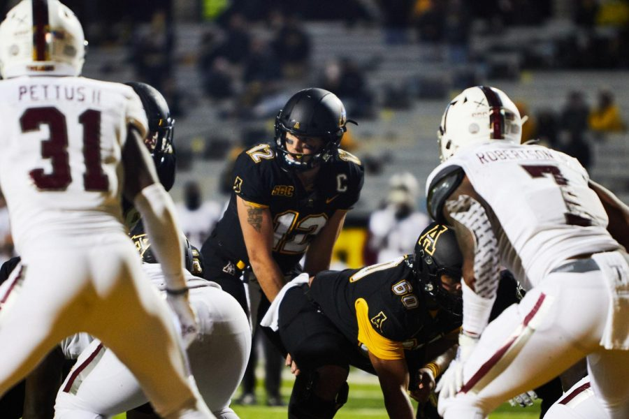 "App State senior quarterback Zac Thomas bounced back from last week's three interception performance and loss to Coastal Carolina by leading the Mountaineers to a 47-10 win over Troy on Saturday. ""I'm proud of our guys. They played lights out, and it was good to get back on the winning side,"" Thomas said."