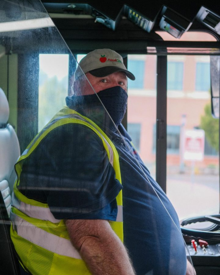 Drivers are now required to wear face coverings, made available to them by AppalCart, and are offered gloves, clear barriers, and other protective measures in order to promote public health.